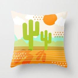 Blazin' - retro vibes southwest socal desert minimal 70s colors throwback 1970's art Throw Pillow