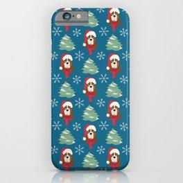 Basset Hound Christmas Dog iPhone Case
