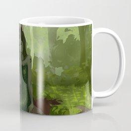 Water nymph by the waterfall Coffee Mug