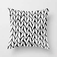 Hand Knitted Throw Pillow
