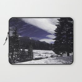 Star Trails in Mount Rainier National Park Laptop Sleeve