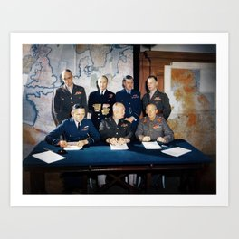 Supreme Command - Allied Expeditionary Force - WW2 Art Print