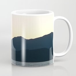 Sunset and Crescent Moon over the Water Coffee Mug
