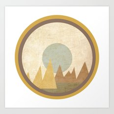 Moon & Mountains Art Print