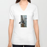 giants V-neck T-shirts featuring Giants Among Giants by Jason Pierce