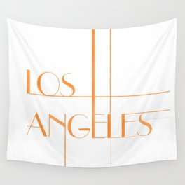 Los Angeles Deco Print Wall Tapestry