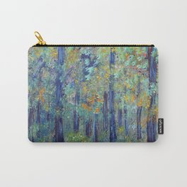 Impressionism Landscape Tree Forest, Rustic Art Home Decor Carry-All Pouch
