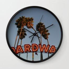 Vintage Boardwalk Sign Wall Clock