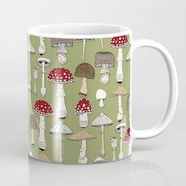 mushrooms fern green Coffee Mug