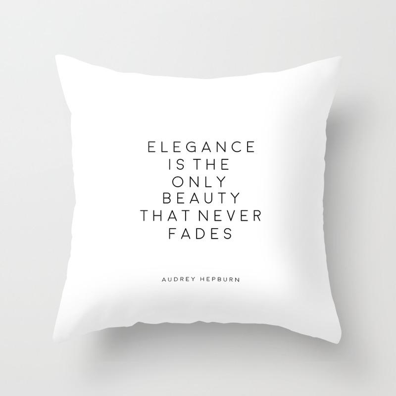 Audrey Hepburn Wall Art Fashion Wall Art Audrey Hepburn Quotes Fashion Decor Girls Room Decor Printa Throw Pillow