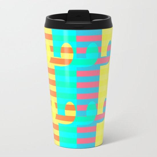Cacti light Metal Travel Mug