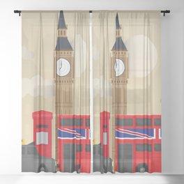 Woke up in London yesterday... Sheer Curtain