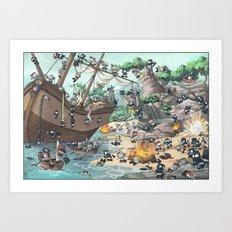 PiratesVSNinjas Art Print