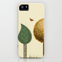 Autumn Butterflies iPhone Case