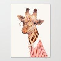 giraffe Canvas Prints featuring Giraffe by Animal Crew