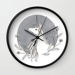 Unicorn & Nemophila Wall Clock