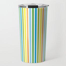 Colourful Pinstripes Travel Mug