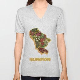 Islington - London Borough - Colour Unisex V-Neck