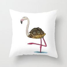 Flamingoise Throw Pillow
