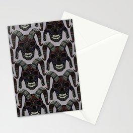demon skull heather Stationery Cards