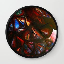 Roses In Twilight Wall Clock