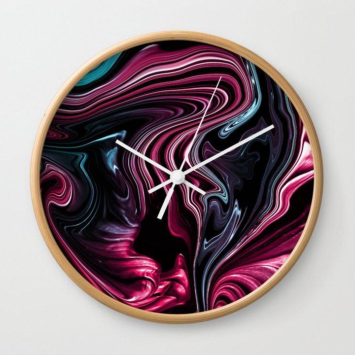 Liquid Flowers 4 Wall Clock By Snisovik Society6