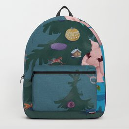 Little Piglets with gifts. Backpack