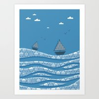 boats Art Prints featuring Boats by Matt Andrews