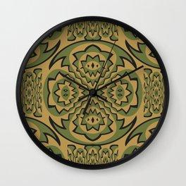 Tribal geometric pattern Wall Clock
