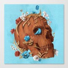Skull Tree square Canvas Print