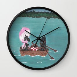 Sunday Afternoon - Scotties-Scottish Terriers Wall Clock