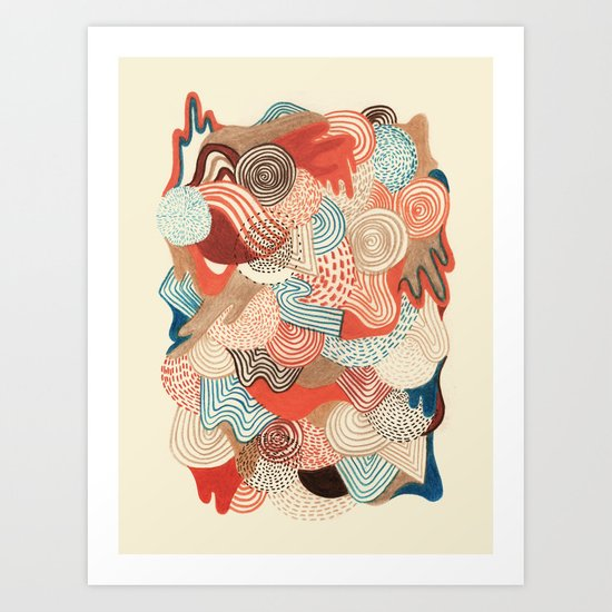 Melting time Art Print