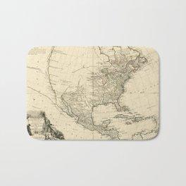 Old Map of North America (1783) Bath Mat
