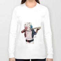 harley quinn Long Sleeve T-shirts featuring Harley Quinn by jorgeink