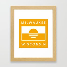 Milwaukee Wisconsin - Gold - People's Flag of Milwaukee Framed Art Print