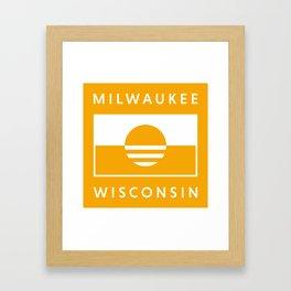 Milwaukee Wisconsin - Gold - People's Flag of Milwaukee Framed Art Print