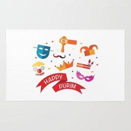 Happy National Purim Day Rug