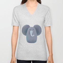 Elephant Nursery Art Unisex V-Neck