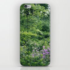 Purple Flowers Growing in the Forest iPhone Skin