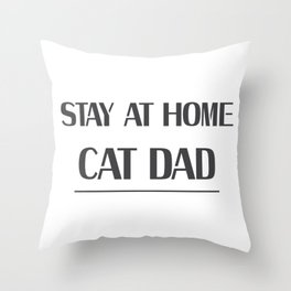 Dad Love Cat Fathers Day Cat Lover Pet Love Gifts Throw Pillow
