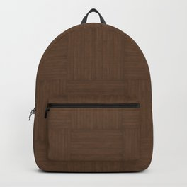 Coffee Brown Faux Bois Wood Pattern Backpack