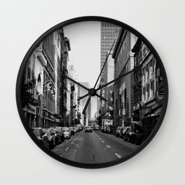 Mornings in Old Montreal Wall Clock