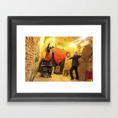 flamenco dancing Framed Art Print