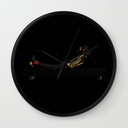 Turntable in the dark Wall Clock
