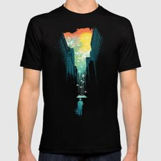 I Want My Blue Sky MEDIUM Black Mens Fitted Tee