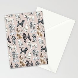 Poodles Stationery Cards