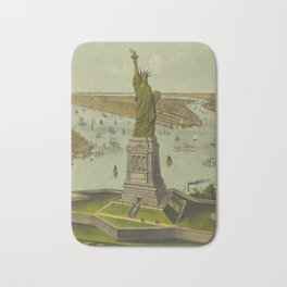 Currier & Ives. - Print c.1885 - Statue of Liberty 2 Bath Mat