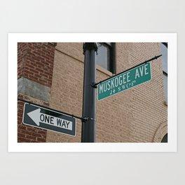 Street Sign with Cherokee Art Print