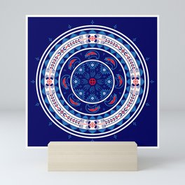Bear Spirit (Blue) Mini Art Print
