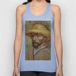 Van Gogh, Self-Portrait with Straw Hat, – Van Gogh,Vincent Van Gogh,impressionist,post-impressionism Unisex Tank Top